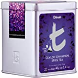 Dilmah Tea, Ceylon Cinnamon Spice Tea, 20-Count Luxury Leaf Teabags (Pack of 2)
