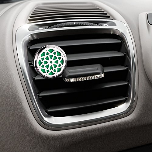 Bysiter Aromatherapy Essential Oil Fragrance Diffuser Vent Clip with 10 Felt Pads for Car Bathroom - Improve Air Quality, Motion Sickness and Promote Calm Driving (Diffuser C) - incensecentral.us