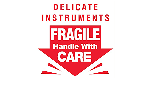 """Details about  /30 FRAGILE HANDLE WITH CARE LABELS 1/"""" x 3/"""""""