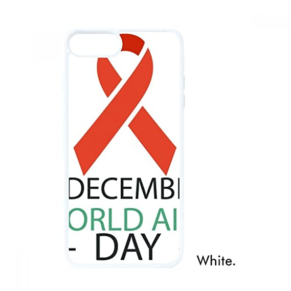 1st December AIDS Day HIV Solidarity For iPhone 7/8 Cases White Phonecase  Apple Cover