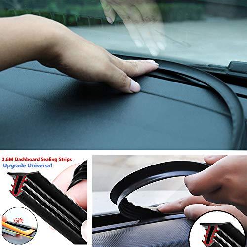 Shopline 1.6m Car Windshield Dashboard Sealing Strip, U Type Rubber Noise Insulation Soundproof Anti-dust Seal Strip Edge Part