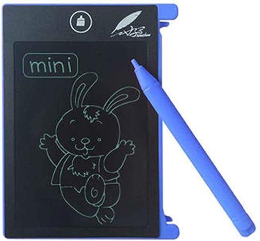 LR CHUYI 4.4インチLCDライティングタブレットポータブル電子ライティングドローイングボードホームパッド用スタイラス付き落書きパッド(ピンク) (Color : Blue)