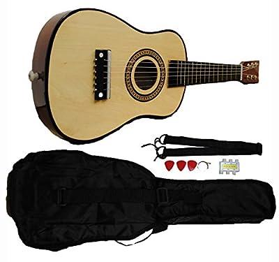 Mini Kids Acoustic Toy Guitar Kit Gig Bag + Picks + Strap + Tuner