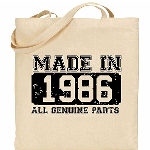 design Cotton present in 100 Bag Made retro 1986 ideal aSR61nv
