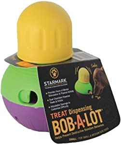 StarMark Hot Bob-A-Lot Interactive Dog Toy, Small, New