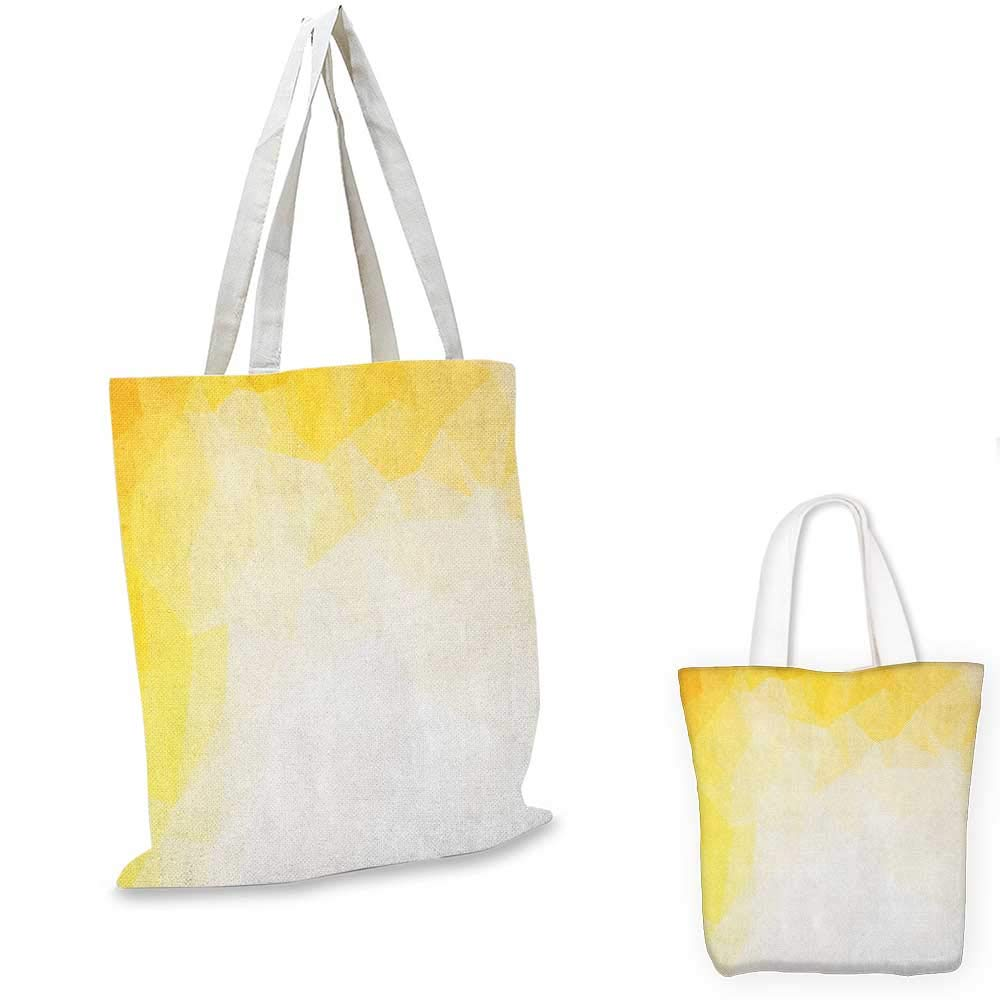 Yellow and White canvas messenger bag Geometric Art Pattern with Lacing Shapes 30s Style Spring Fashion canvas beach bag Earth Yellow White 12x15-10