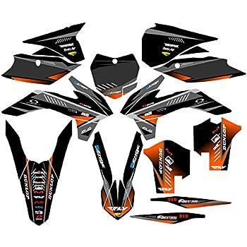 2013-2016 XC Surge Black CUSTOM Complete Senge Graphics Kit Compatible with KTM