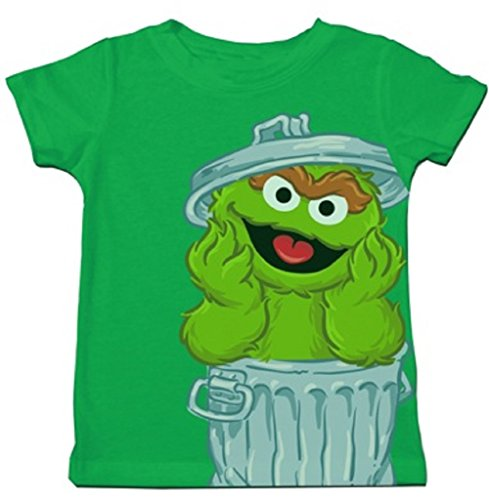 Price comparison product image Sesame Street Oscar the Grouch Oversize in Trash Can Toddler T-Shirt (Toddler 7T)