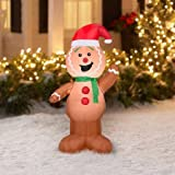 Airblown Inflatable Outdoor Christmas Characters - 4 foot tall (Gingerbread Man) by Gemmy