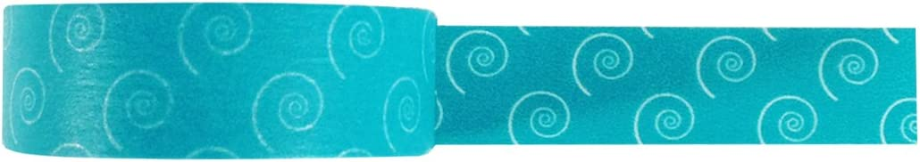 allydrew 64806 Japanese Aqua Swirly Dots Washi Masking Tape