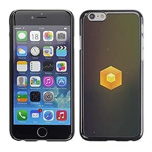 Caucho caso de Shell duro de la cubierta de accesorios de protección BY RAYDREAMMM - iPhone 6 - Cubo simple