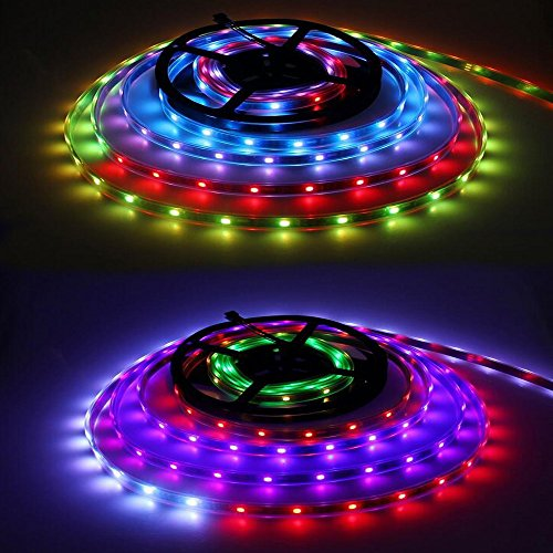VideoPUP(TM) Ws2811 Led Pixel Strip Dc12v 5050 30leds/m 10ics/m 5m/roll 16.4ft/5m Digital Stirp Rgb Tube-waterproof Ip67 Individually Addressable LED Light - Bullet Flexible Deck Light