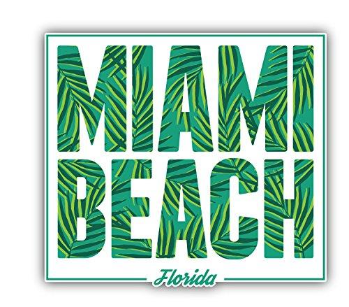 Miami Beach Florida Art Decor Bumper Sticker 5'' x 5''