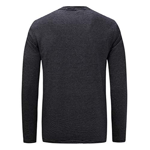 Uomo Camicette Maniche Zaffiro Girocollo Righe A Zengbang 3 Tops Sweatshirt Felpa Lunghe Oversize q1n5wg84