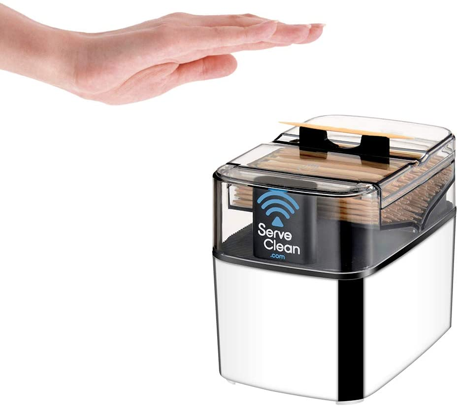 Serve Clean Smart Toothpick Dispenser, Chrome