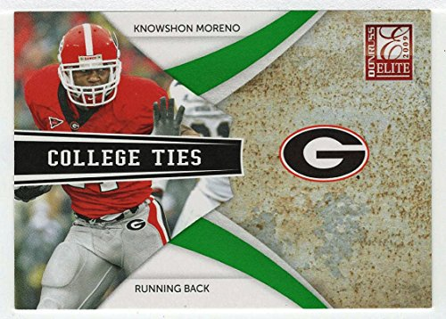 Knowshon Moreno 491/899 (Football Card) 2009 Donruss Elite College Ties GREEN # 14