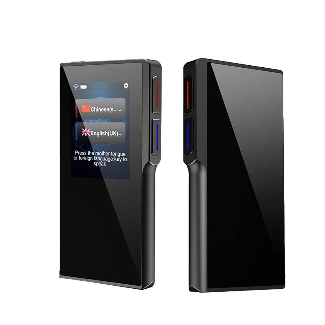 BEYI Traduttore Vocale Istantaneo a Due Vie, Portatile Smart Pocket Interpreter con Touch Screen 2.4 Pollici Supporta WIFI + Hotspot Comunicare con Gli Altri Faccia a Faccia