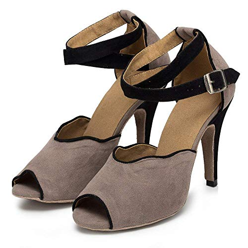 Sandales Salsa eu39 Latine Taille Jazz 5cm Danse tango Yingsssq coloré modernes De chaussures samba our40 Grey7 Femmes Uk6 thé Chaussures Grey7 5cm Talons ItxwP