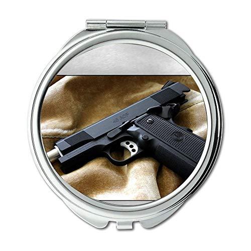 Yanteng Mirror,Makeup Mirror,Gun Paint,Round Mirror,hd Gun s p,Pocket Mirror,Portable -