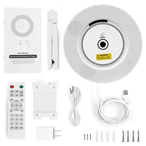 Reproductor de CD portátil con Bluetooth- Altavoces Alta fidelidad Incorporados, Admite Radio FM Tarjeta TF Conector de 3,5 mm Entrada/Salida Auxiliar, Regalo para niños, Amigos -2020 más Reciente