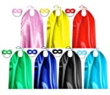 Superhero Capes and Masks for Adult Bulk Pack - Dress Up Superhero Party Costumes for Team Building