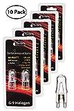 Brite Innovations G9 Halogen Bulb, 60 Watt – 10 Pack – Energy Saving - Dimmable - Soft White 2700K - 120V - Q40, CL, T4 JD Type, Clear Light Bulb