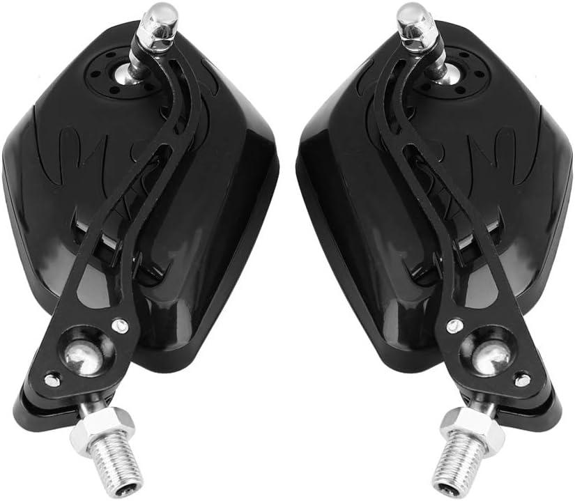 Universal Moto Scooter con patr/ón de llama Espejos retrovisores laterales de material de aluminio 1 par 8 mm 10 mm amarillo