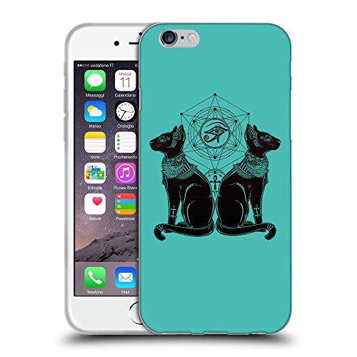 GoGoMobile Coque de Protection TPU Silicone Case pour // Q08060634 Chat égyptien 1 Turquoise // Apple iPhone 6 4.7""