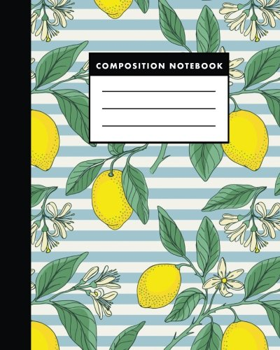 Composition Notebook: Vintage Lemon | 8x10 Composition Notebook - Easy to Study