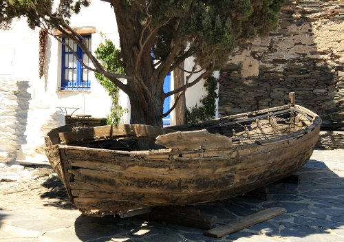 Dali's Ancient Boat At Home in Port Lligat, Cadaques, Catalonia, Spain - Framed Photo Art Print, 11