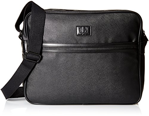 Fred Perry Men's Saffiano Shoulder Bag, Black by Fred Perry