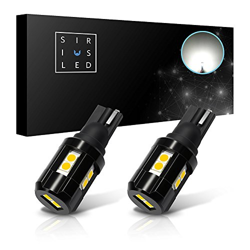 SiriusLED Backup Reverse Light Canbus error free LED Bulb Size 921 Super Bright 3030 SMD Xenon White 6000k Pack of 2