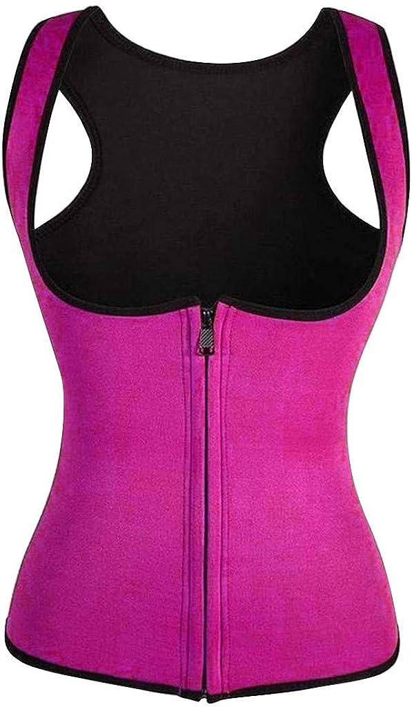 Riou Damen Waist Trainer Korsett f/ür Gewichtsverlust Sauna Taillentrainer Weste Workout Training Sport Corset Mieder Body Shapewear