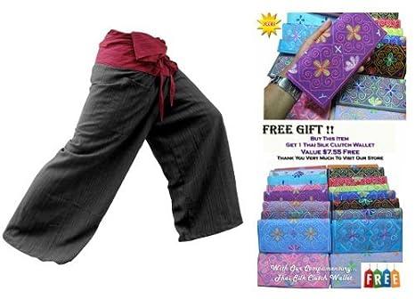 5c1b665de08 Image Unavailable. Image not available for. Color   quot HITHOT quot 2 TONE  Thai Fisherman Pants Yoga Trousers ...