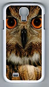 Wise Old Owl Hard Cover Back Case For Samsung Galaxy S4,PC White Case for Samsung Galaxy S4 i9500