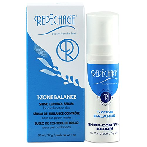 (Repechage T-Zone Balance Shine Control Serum - For Combination/Oily Skin Types - The Ultimate Hydrating & Balancing Solution - Beautiful Even Looking Mattifying Finish On Face - 1 fl. oz./29 ml)