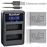 Kastar Battery X2 & LCD Dual Charger for Nikon EN-EL14a EN-EL14 EL14a and Nikon Coolpix P7000 Coolpix P7100 Coolpix P7700 Coolpix P7800 D3100 D3200 D3300 D3400 D5100 D5300 D5500 D5600 Df DSLR Camera