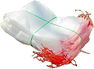 "DREAMLANDSALES 50 PCS 8""x12"", 40 Mesh Fruit Protection Bags,Garden Plant Fruit Flower Protect Bag Garden Netting Bag for Protecting Your Plant Fruits Flower, Reusable Netting Bags"
