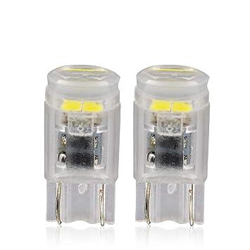 LncBoc T10 Bombillas LED Blanco Cuña W5W 3-SMD 2835 LED 501 194 168 Coche