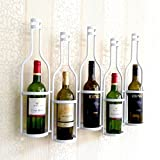 Creative iron wall - mounted wine rack glass holder, A