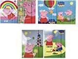 Six Pack of Peppa Pig Large Document Holders with Elastic Closure Type 2