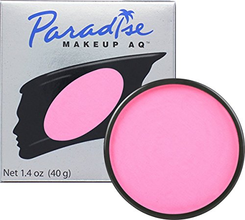 Mehron Makeup Paradise AQ Face & Body Paint, LIGHT PINK: Pastel Series - 40gm (Pink Paint Face)