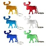 Swatom Moose Shaped Bottle Opener Keychain, Key Tag Chain Ring, 100 Piece Review