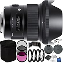 Sigma 24mm f/1.4 DG HSM Art Lens for Canon EF Bundle with Manufacturer Accessories & Accessory Kit (23 Items)