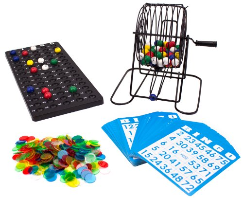 Deluxe Roulette Set - Deluxe Bingo Game Set - Includes Colored Balls, 300 Chips and 50 Cards!