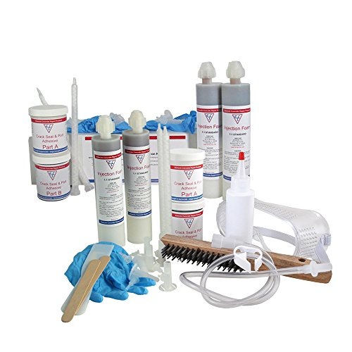 DIY Leaky Basement Wall Crack Repair Kit (20 ft.) for Homeowners - Repair Poured Concrete Foundation Wall Cracks, the Waterproofing Contractor's Preferred Solution by Emecole