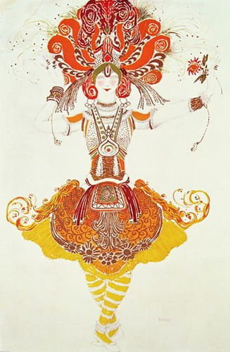 Leon (Samoilovitch) Bakst Ballet Costume for 'The Firebird' 72x111 [Kitchen]