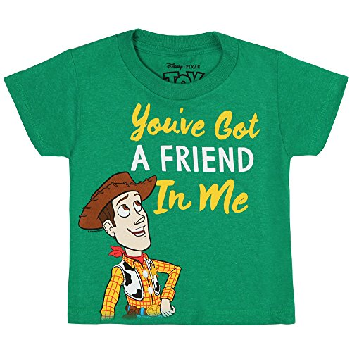 Toy Story You've Got a Friend In Me Juvy T-shirt - Woody, Green (2T) (Toy Story Shirts)
