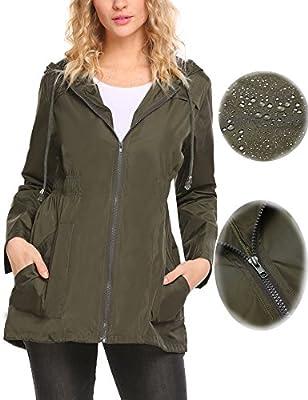 Sexyfree Waterproof Lightweight Rain Jacket Active Outdoor Hooded Raincoat For Women