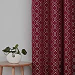 Deconovo Jacquard Room Darkening Curtains Living Room Textured Grommet Curtains